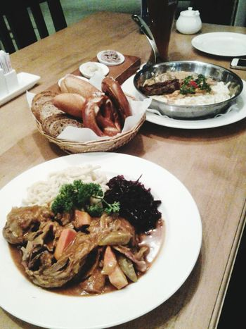 throwback dinner! this german foods were awesome! German Food Dinner Suzhou, China Delicious
