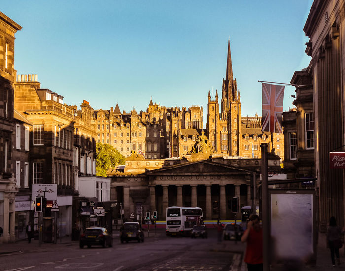Edinburgh Architecture Built Structure City Old Buildings Street Uk