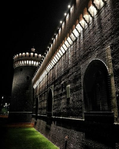 Night Architecture Illuminated Arch Built Structure No People Travel Destinations Shadow Indoors  Building Exterior Castle Wall Milano Milan,Italy Milanocity Middleage