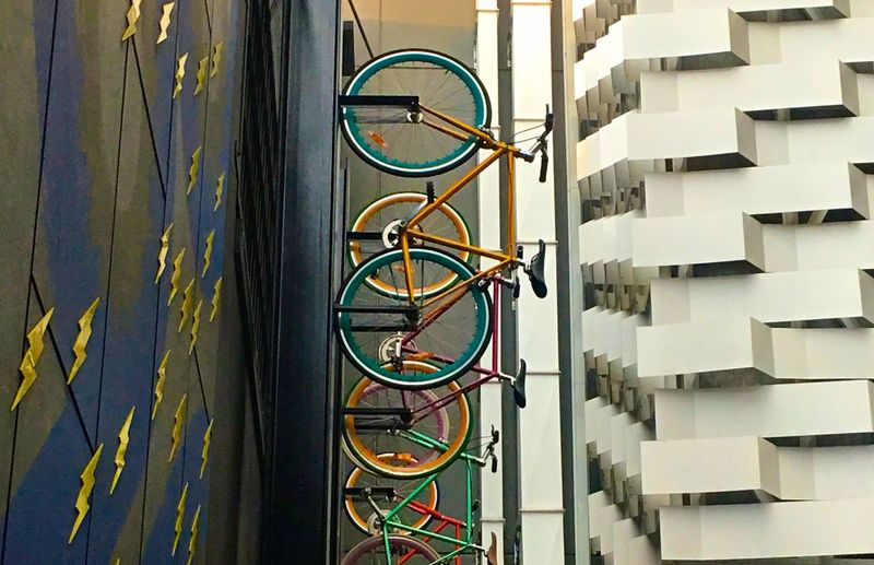 Your Design Story ArtWork Modern Architecture Melbourne City Melbourne Halfcenturytraveller Travelgram Travel Photography Architectural Detail Architecture_collection Architecture Travelphotography Bicycle Bicycles