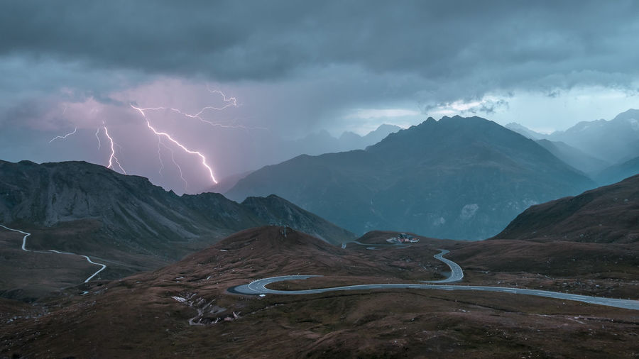 Lightning at the Großglockner High Alpine Road in Austria. Alpine Austria Dramatic Sky Grossglockner Landscape_Collection Alps Beauty In Nature Cloud - Sky Forked Lightning Fujifilm Landscape Landscape_photography Lightning Lightning Storm Long Exposure Mountain Mountain Range Nature No People Outdoors Power In Nature Road Scenics Sky Weather