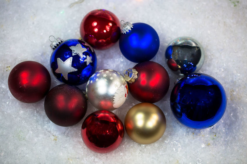 Blue Choice Christmas Ornament Close-up Decoration Directly Above Group Of Objects High Angle View Indoors  Marble Marbles Medium Group Of Objects Multi Colored No People Purple Shape Shiny Sphere Still Life Table Variation
