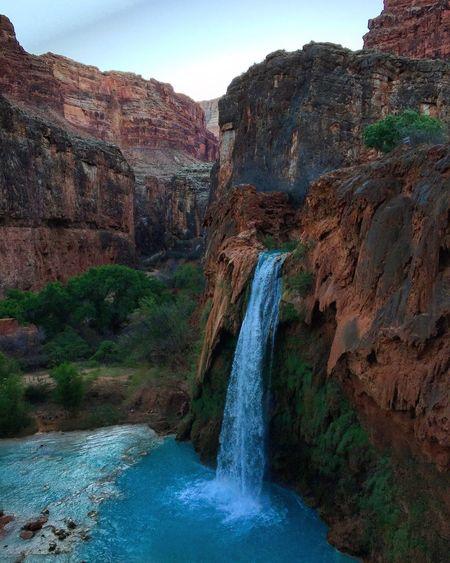 35mi 4 day hike. Worth every step. Grandcanyon Arizona Waterfall Havasu Havasupai Havasu Falls Travel Backapacking Adventure
