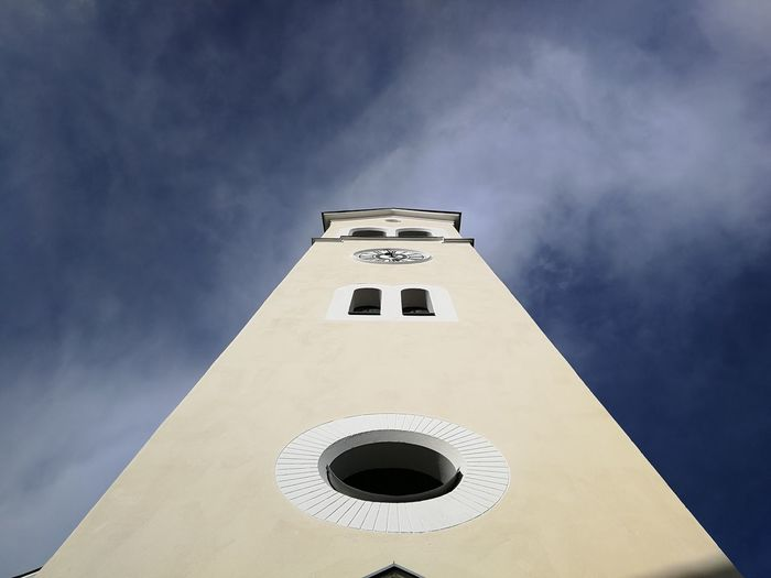 Little church-tower Church Tower Churchtower Church Tower Head In The Clouds Clouds Cloud - Sky Clouds And Sky EyeEm Best Shots History Building Exterior Day No People Outdoors Sky Architecture
