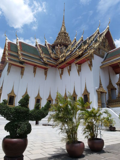 Architecture Building Exterior Built Structure Day Nature No People Outdoors Pagoda Place Of Worship Plant Potted Plant Religion Sky Spirituality Travel Destinations Tree