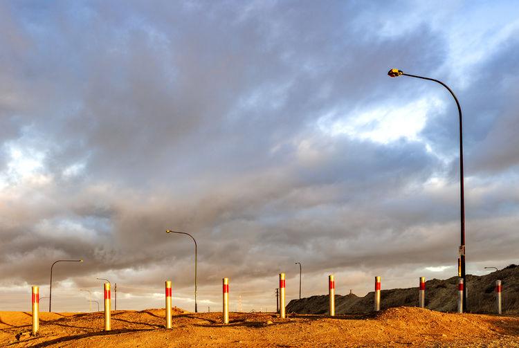 Sky Cloud - Sky Street Light Lighting Equipment Low Angle View No People Dawn