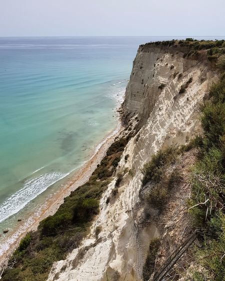 Agrigento Panoramic Photography Agrigento Sicily Panoramic Landscape Water Wave Sea Beach Sand Sunlight Clear Sky Sky Horizon Over Water Close-up
