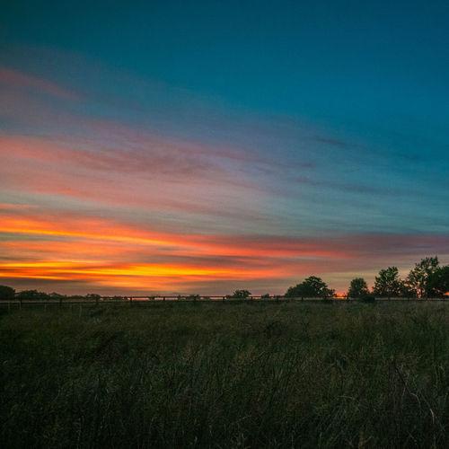 Sunset RedSky Landscape Nature