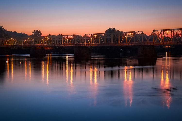Bridge Sunset Sunset #sun #clouds #skylovers #sky #nature #beautifulinnature #naturalbeauty #photography #landscape River Long Exposure Lambertville