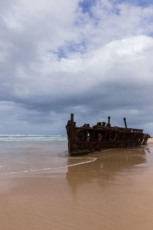 Maheno shipwreck on Frasier Island, Australia Abandoned Beach Cloud - Sky Horizon Over Water Nature Nautical Vessel No People On The Beach Outdoors Relic From The Past Sea Shipwreck Sky Tranquility Water Wave Wreck