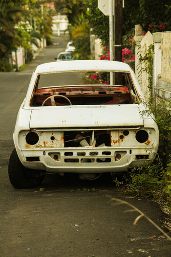 Retro or Broken Investing In Quality Of Life Car Close-up Day Land Vehicle No People Outdoors Road Stationary Street Transportation Tree
