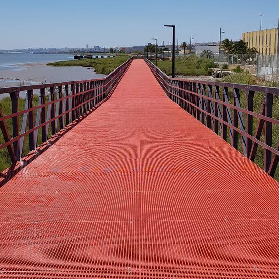 Path Water Red Sea Sky Horizon Over Water Footbridge