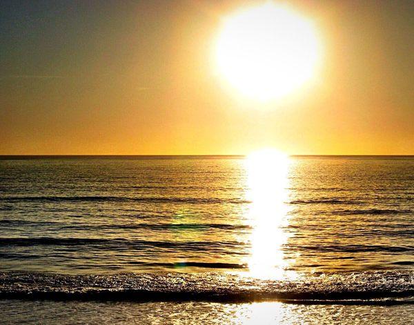 Water Sea Horizon Over Water Sun Scenics Reflection Sunset Beach Tranquil Scene Beauty In Nature Tranquility Seascape Idyllic Orange Color Nature Majestic Wave Sky Shore Non-urban Scene Ocean Ocean View