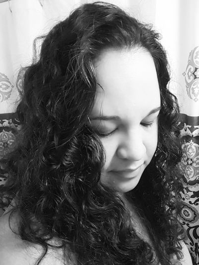 Feeling Blue Blackandwhitephotography Curly Hair Curlymess ImNotPerfect Aloneagain That's Me Sensual_woman Sexylady Darkportrait Feeling Sad Less Than Perfect Havingamoment