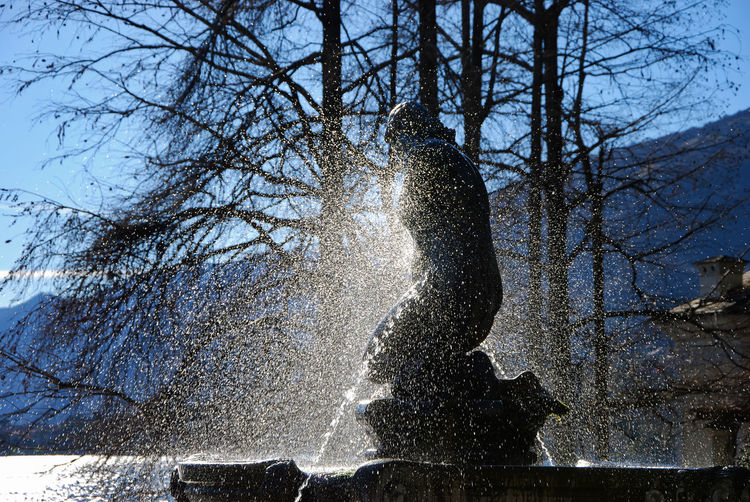 Fountain at Olivelli Park - Tremezzina, Como, Lombardy, Italy. Drops European  Fountain Italia Lombardy Statue Travel Tremezzo Art Beauty In Nature Drop Europe Italian Italy Lombardia Old Outdoors Sculpture Splashing Tourism Tremezzina Water