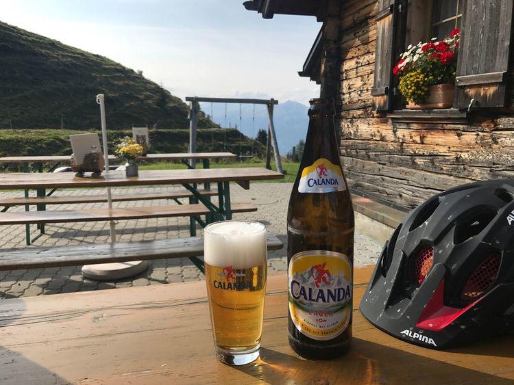 Calanda Refreshment Beer Bike Outdoors Nature Switzerland Mountain Alp