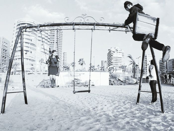 Life Is A Beach Happy People Monochrome Cityscapes