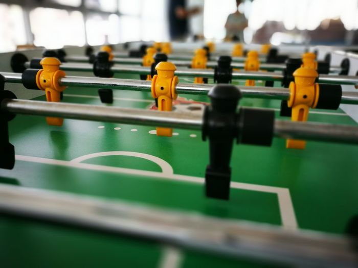 Close-up of table soccer