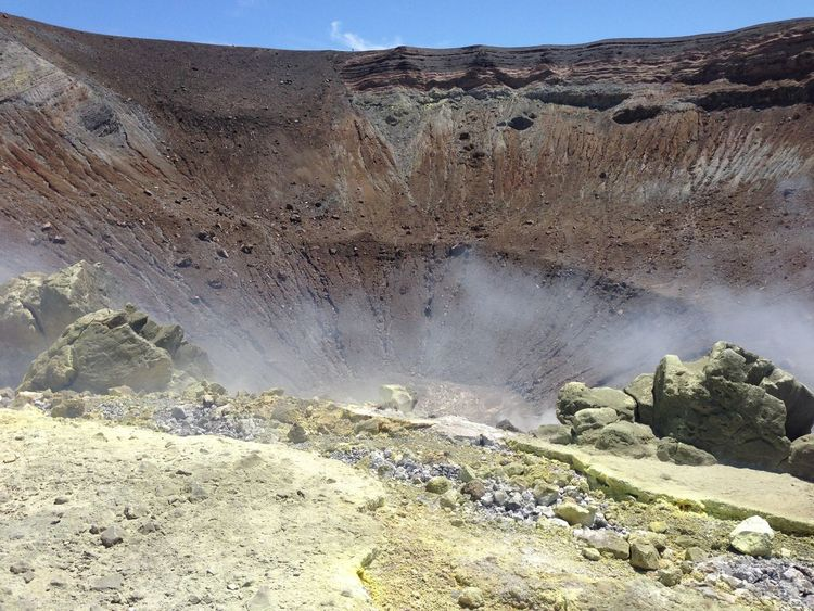 Beauty In Nature Day Geology Hot Spring Landscape Natural Phenomenon Nature No People Outdoors Physical Geography Sand Dune Scenics Sky Smoke Travel Destinations Volcanic Landscape Volcano Isoleeolie Isole Eolie Isola Vulcano Vulcano Island Aeolian Islands Italia Italy Perspectives On Nature