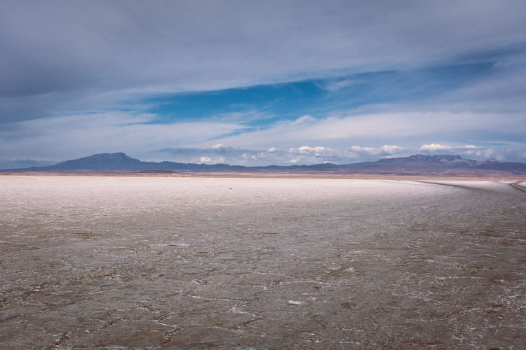 Scenic View Of Famous Salt Flate From Bolivia