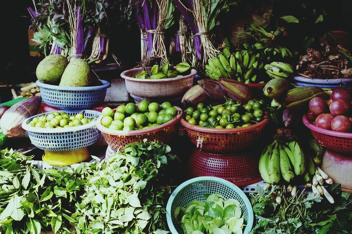 Vietnam Ho Chi Minh City Market Vegetables Verduras Légumes Asian Fruits Frutas Freshness Marche Mercado ベトナム ホーチミン 市場 野菜 フルーツ
