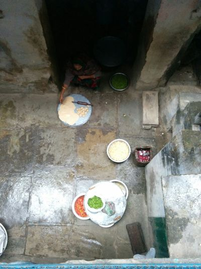 High Angle View Indoors  No People Day Water Women Cooking Food