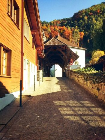 Old Buildings Bridge Bernese Oberland Switzerland Old Bridge Streetphotography Autumn Autumn Colors Taking Photos