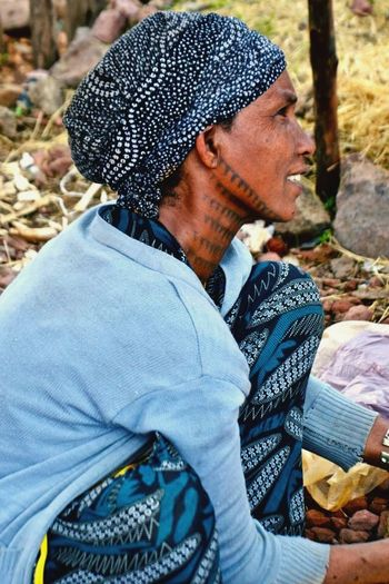 Tattooed Ethiopian woman- Ethiopia Woman Tattoo Face Market African People Africa