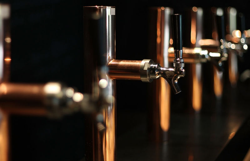 Close-up of beer in bar