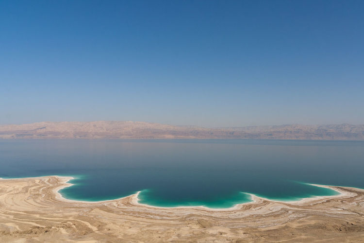 Beauty In Nature Clear Sky Day Dead Sea  Desert Desert Beauty Nature No People Outdoors Scenics Sky Tranquil Scene Tranquility Water Fresh On Market 2017