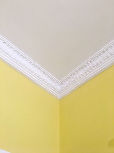 Corner Ceiling Yellow Architecture Built Structure No People Low Angle View Indoors  Close-up Architectural Design Day