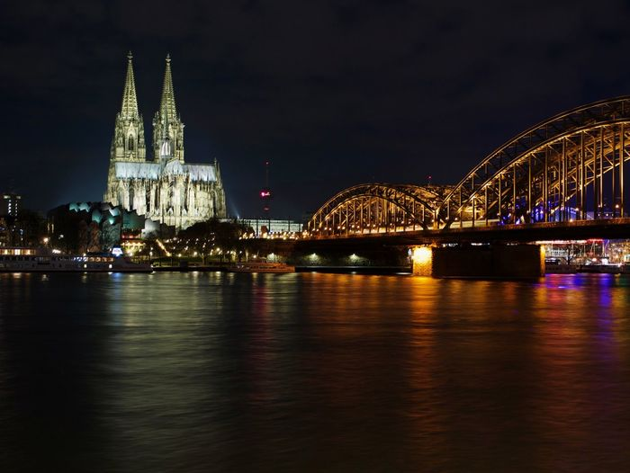 Night Beauty Citylights Architecture Built Structure Connection Bridge - Man Made Structure Night Travel Destinations Illuminated Place Of Worship River Travel Waterfront Outdoors City Cityscape