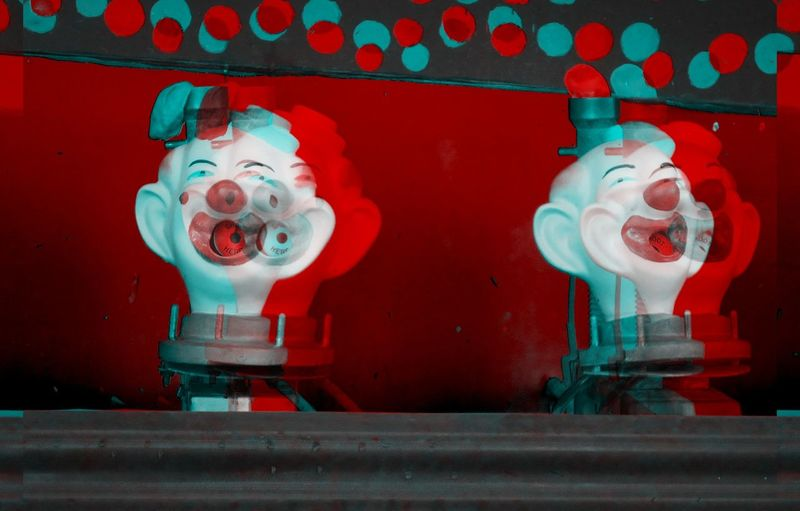 Abstract Clowns (Coulrophobia) Abstract Photography Abstractions In Colors Carnival Coulrophobia Games Anstract Close-up Clown Clowning Clowns Clowns Face Colorful Creepy Creepy Face Different Different Perspective Fobia Intense Intense Colors No People Photography Red Unique Vibrant Color