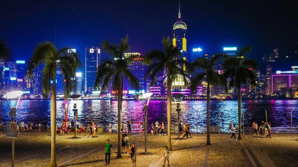 Victoria Harbour HongKong Discoverhongkong Leica Leicaq Nightphotography EyeEm Best Shots Cityscapes Hello World Night Lights Summernight