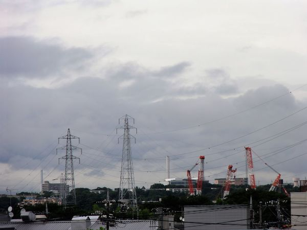 Cloud Cloud - Sky Cranes Electric Wiring Sky Transmission Line Tower