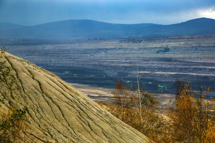 Brown Coal Mine Turów Beauty In Nature Bogatynia Day Grass Landscape Mine Mountain Mountain Range Nature No People Outdoors Scenics Sky Tranquil Scene Tranquility Travel Destinations