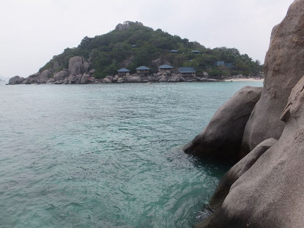Beauty In Nature Calm Clear Sky Cliff Day Idyllic Mountain Nature Outdoors Rippled Rock Rock - Object Rock Formation Scenics Sea Sky Tranquil Scene Tranquility Water Waterfront Spotted In Thailand Kohnangyuan