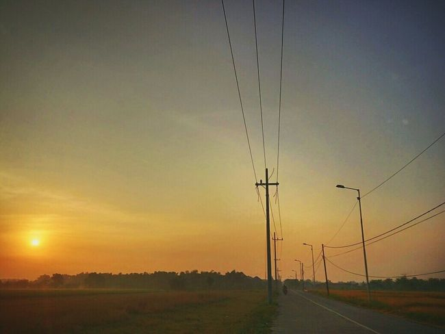 Sunset Nature Dramatic Sky Scenics Sky Beauty In Nature Outdoors Tranquility Tranquil Scene Agriculture No People Silhouette Rural Scene Electricity Pylon Day Outdoor Sunrise