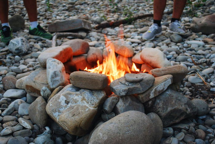Fire Summer Teens Nature River Summertime Summer Paradise Party