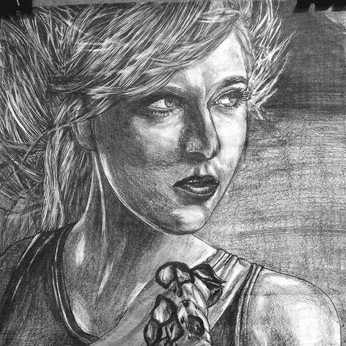 Karakalem Sketch Sketchbook Budala love ask MariaSharapova blondie tennis eskiz pen pencil amateur painter sugarpova beautiful amazing rememberme independent istanbul portrait portre dese art