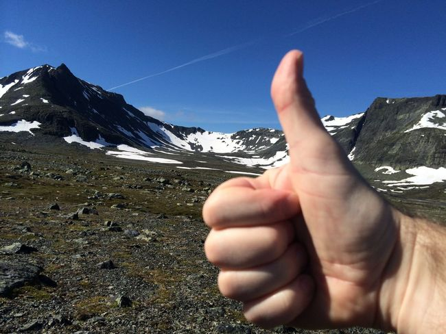 Thumbs up for hiking Hiking Adventure Dnt Mountains Stf Sylarna Thumb Thumbs Thumbs Up Tt Up
