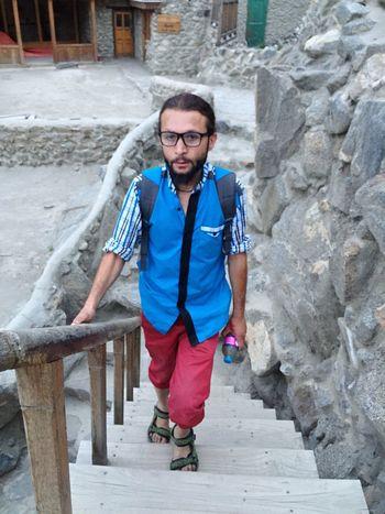 Person Lifestyles Looking At Camera Outdoors Taking Photos Hunza Valley Pakistan Baltit Fort Hunza Karimabad Hunza Memories