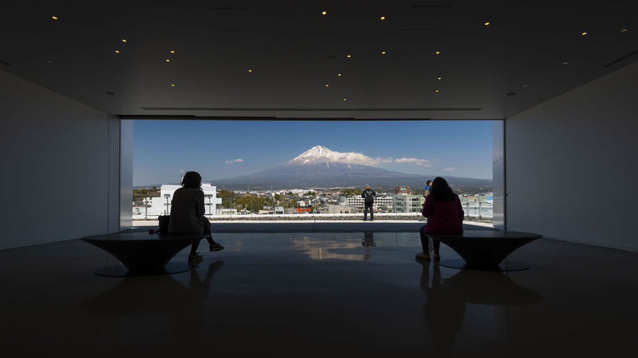 Observation Deck of Mt. Fuji World Heritage Centre, Shizuoka, Japan World Volcano View Vacations Travel Tourist Tourism Snow Cap Snow Sky Shizuoka Seat Science People Observatory Observation Museum MT Mountain Mount Modern Landmark Japanese  Japan Interior Indoor History Historic Heritage Fujisan Fuji Frame Famous Educational Destinations Deck Day Centre Blue Beautiful Attractions Asian