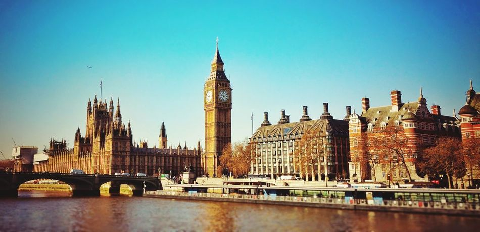 LONDON❤ Big Ben, London Bridge Waterfront Travel Destinations Cultures City Travel Clock Tower Panoramic Architecture Tower History Cityscape Bridge - Man Made Structure Sky Outdoors No People Clock Day