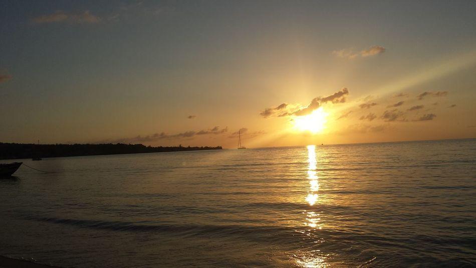 Sunset🌞🌀 Horizon Over Water Beach Nature Water Sky Beauty In Nature No People Cloud - Sky Dramatic Sky Jamaica