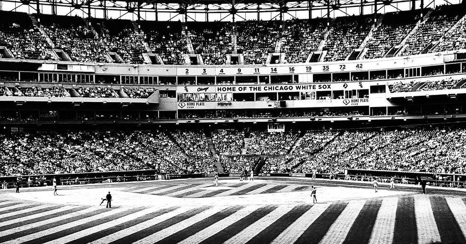 Chicagowhitesox Chicago Baseball Uscellularfield Blackandwhite Takemeouttotheballgame