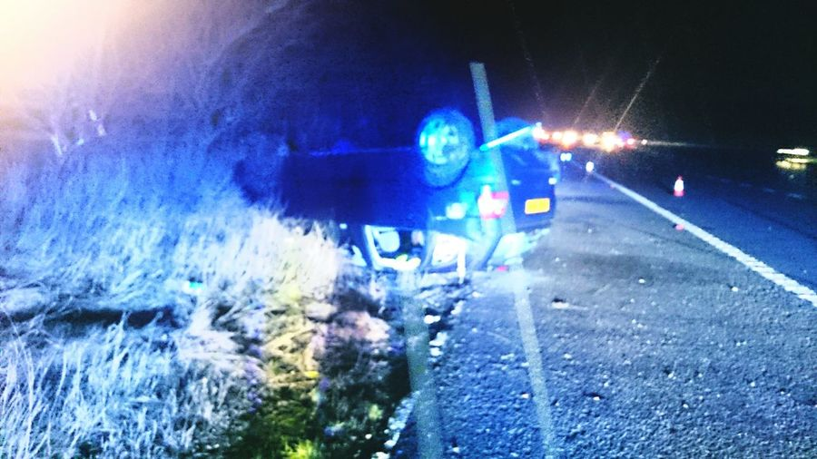 Rtc Rollover m6 motorway Staffordshire Stoke on Trent Stafford lucky driver Traveling Taking Photos Car Crash