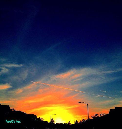 Sunset & Chemtrails