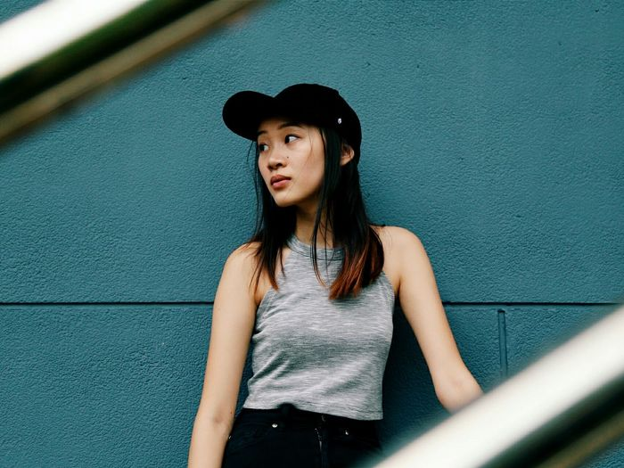 Sea-change. Portrait Portrait Photography Portrait Of A Woman EyeEm Best Shots Eye4photography  EyeEm Portraits EyeEm Best Shots - People + Portrait Asian  Girl The Portraitist - 2015 EyeEm Awards Minimal Color Teal Street Urban Urban Portrait Showcase: January