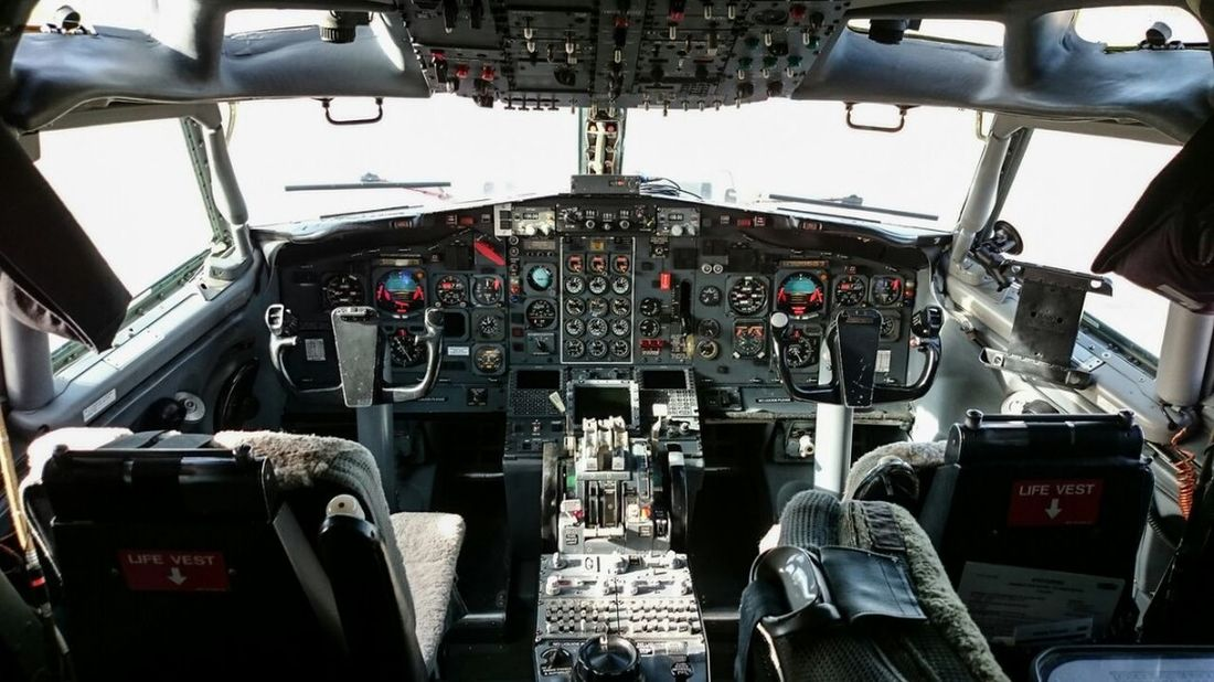 Boeing 727 Cockpit Cockpitview Control Aerospace Industry Air Vehicle Airplane Vehicle Interior Vehicle Seat Transportation Dashboard Control Panel Indoors  Gauge No People Airplane Seat Day Display Aviation Plane Pilot